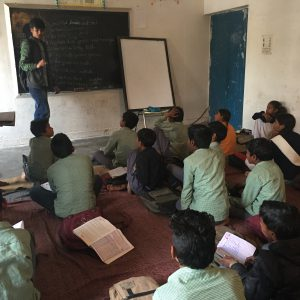 Teaching Students in Khanjarpur, India.JPG